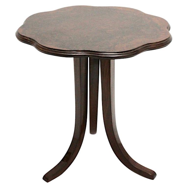 Walnut Art Deco Vintage Side Table or Coffee Table by Josef Frank, Vienna