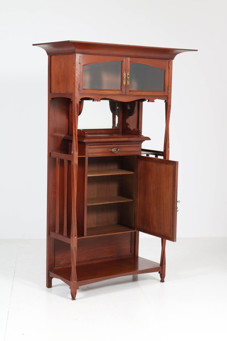 Walnut Arts & Crafts Art Nouveau Cabinet by Royal H.P. Mutters & Zoon, 1900s For Sale 2
