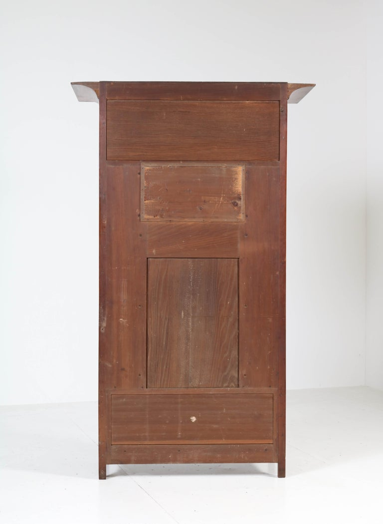 Walnut Arts & Crafts Art Nouveau Cabinet by Royal H.P. Mutters & Zoon, 1900s For Sale 4