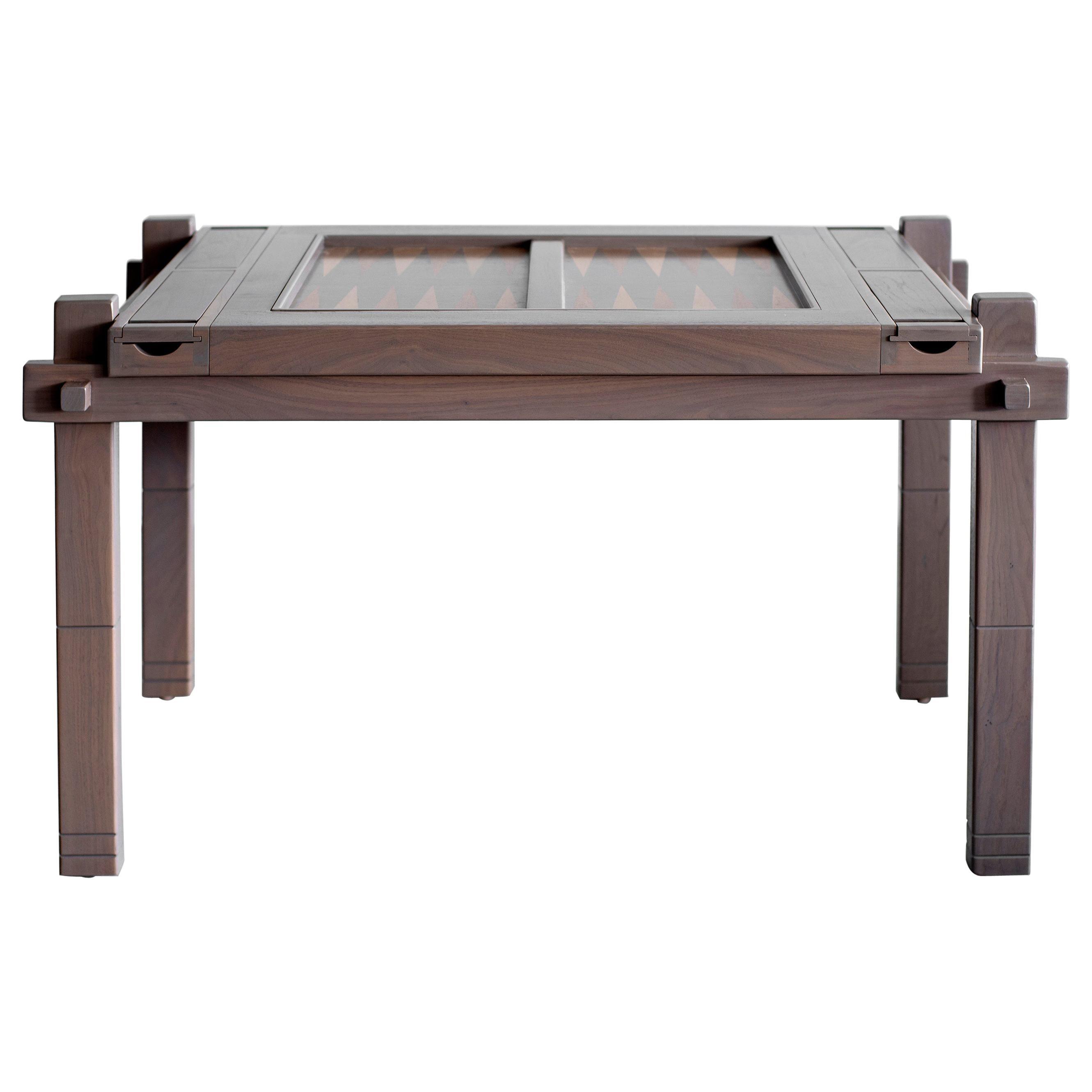 Walnut Backgammon Table