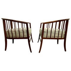 Walnut Barrel Chairs, 1960s