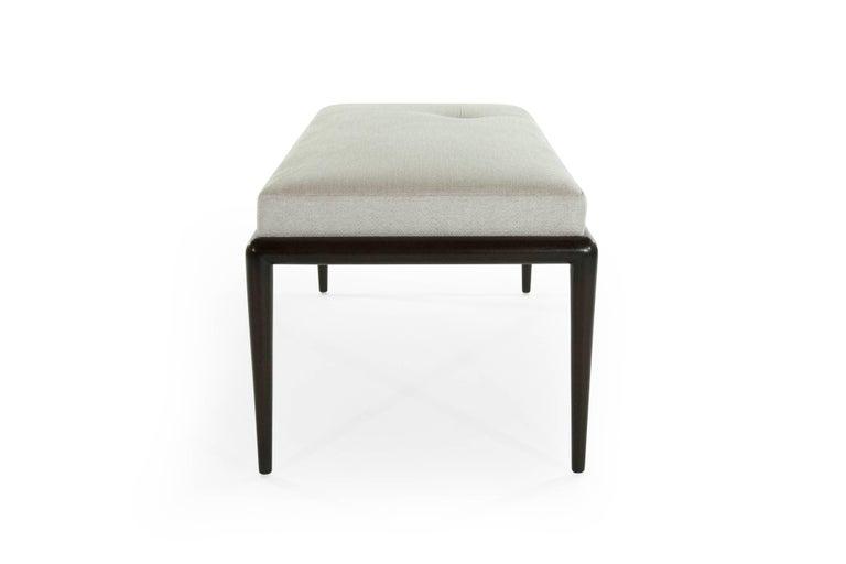Mid-Century Modern Walnut Bench by T.H. Robsjohn-Gibbings For Sale