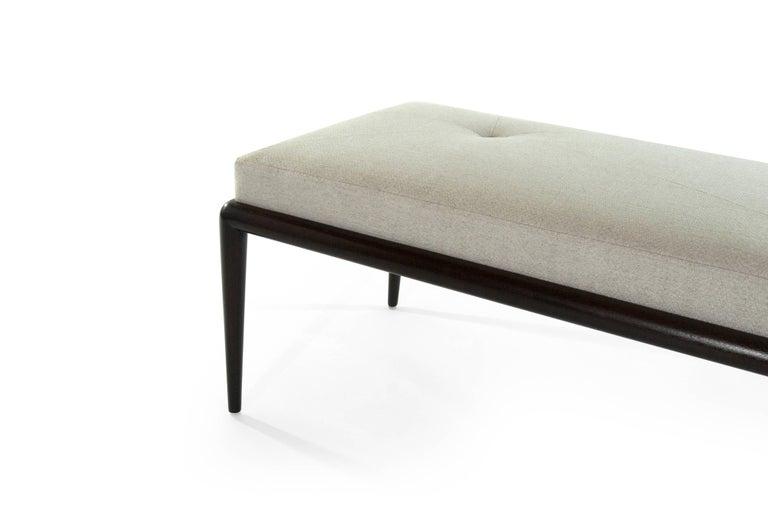 Linen Walnut Bench by T.H. Robsjohn-Gibbings For Sale