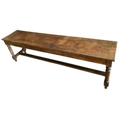 1910s Walnut Bench from France