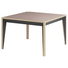 Walnut Black MiMi Square Coffee Table by Miduny, Made in Italy