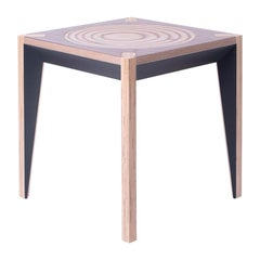 Walnut Black MiMi Stool by Miduny, Made in Italy