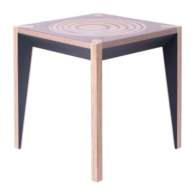 Walnut Black MiMi Stool by Miduny, Made in Italy For Sale