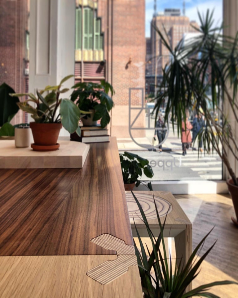 Walnut Black MiMi Table by Miduny, Made in Italy In New Condition For Sale In Brooklyn, NY