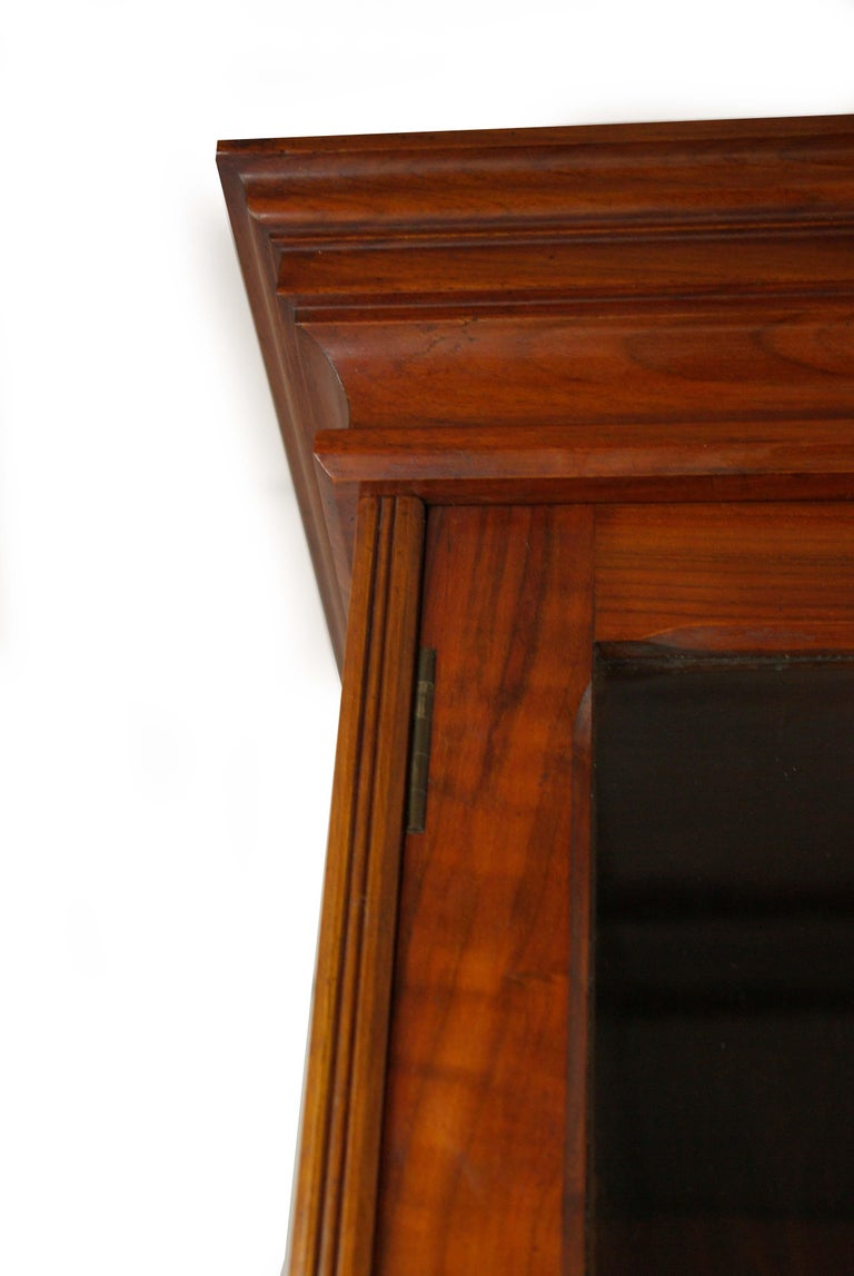 Walnut Bureau Bookcase, Slant Front Desk, Secretary Desk, Scotland, 1910 For Sale 5