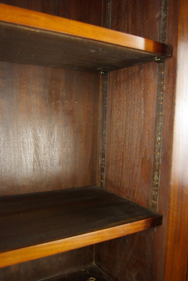 Hand-Crafted Walnut Bureau Bookcase, Slant Front Desk, Secretary Desk, Scotland, 1910 For Sale