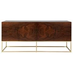 Walnut Burl Thin Frame Cabinet by Lawson-Fenning