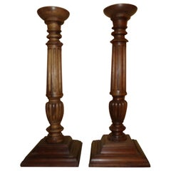 Walnut Candlesticks in the Louis XVI Style, circa 1890