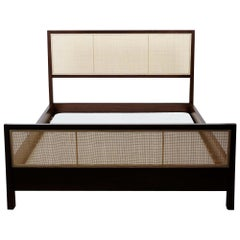 Walnut Caned Bed by Lawson-Fenning, Queen