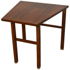 Walnut Cantilever Top Wedge Table Designed by Edward Wormley for Dunbar