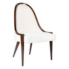 Walnut Chair Designed by Harvey Probber