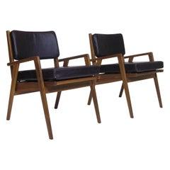 Walnut Chairs Attributed Jens Risom