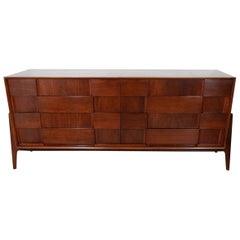 Walnut Checkered Double Dresser
