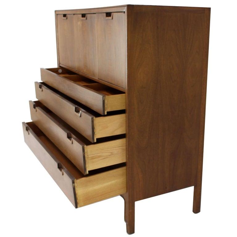 Walnut Chifferobe High Chest Dresser