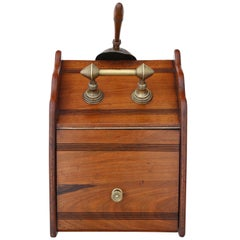 Walnut Coal Scuttle Box or Cabinet