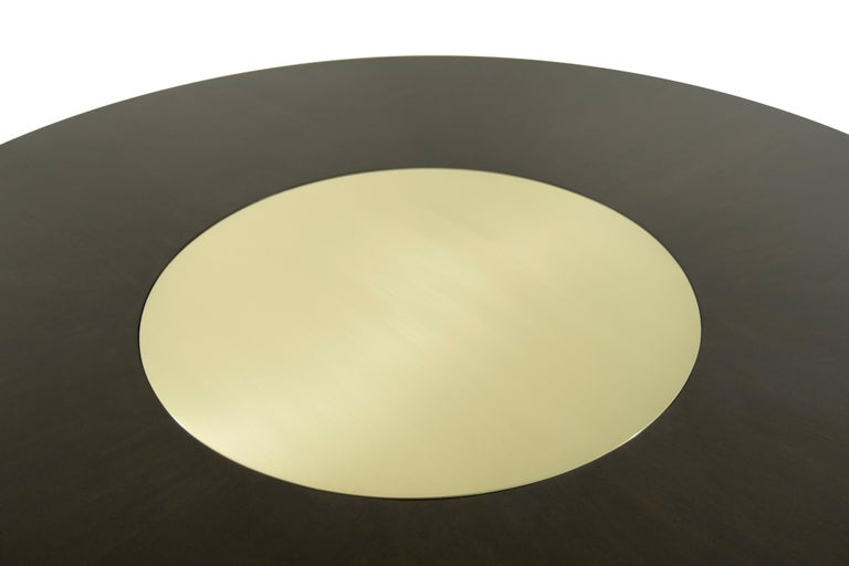 Walnut Coffee Table with Brass Insert by Harvey Probber, 1950s For Sale 5