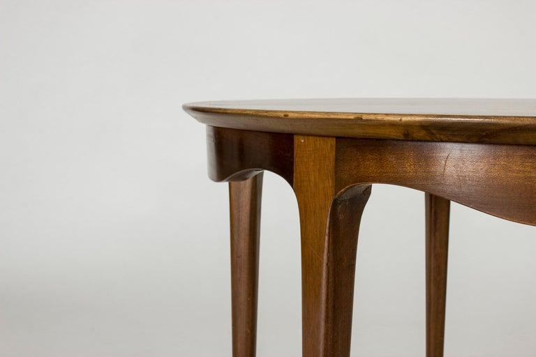 Brass Walnut Coffee Table by Ole Wanscher For Sale