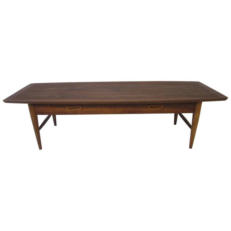 Walnut Coffee Table With Drawer By Lane Altavista For