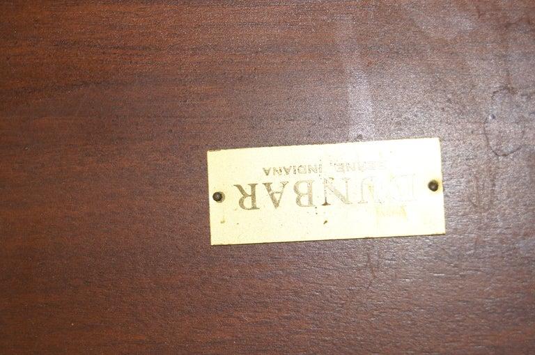 Walnut Coffee Table with Natzler Tiles, Model 5632N by Edward Wormley for Dunbar For Sale 2