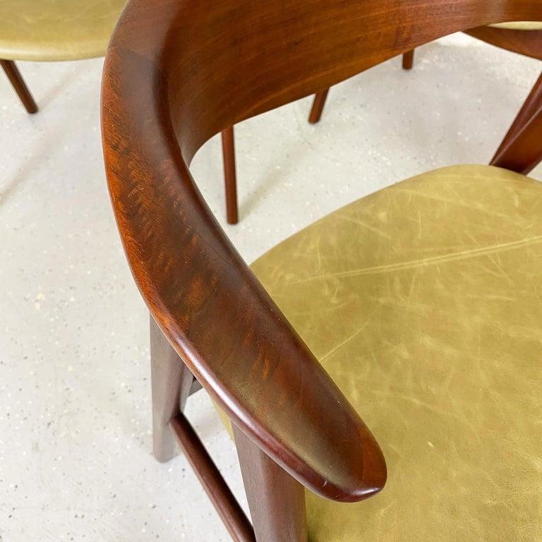 Swedish Walnut Compass Chair by Erik Kirkegaard for Høng Stolefabrik and DUX