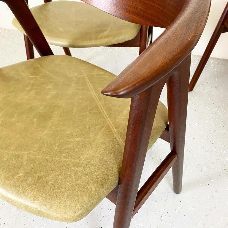 20th Century Walnut Compass Chair by Erik Kirkegaard for Høng Stolefabrik and DUX