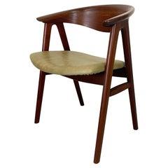 Walnut Compass Chair by Erik Kirkegaard for Høng Stolefabrik and DUX