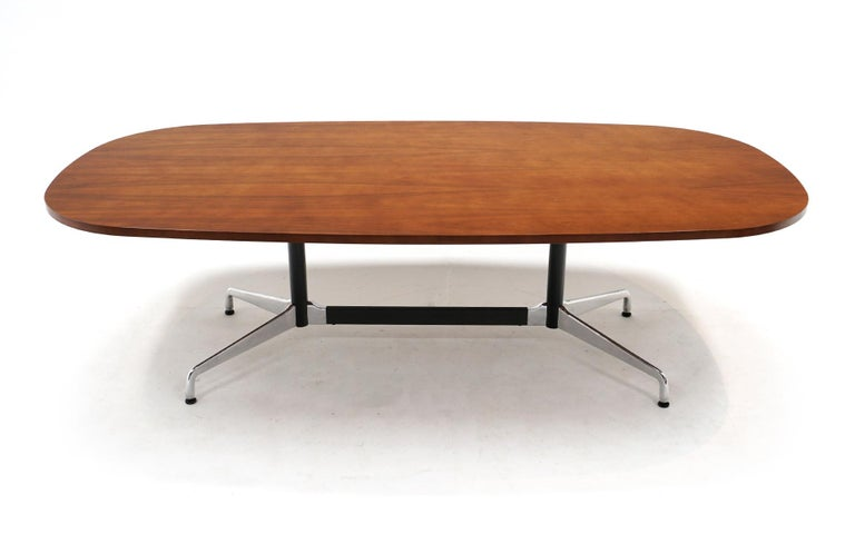 Mid-Century Modern Walnut Conference / Dining Table by Charles and Ray Eames for Herman Miller For Sale