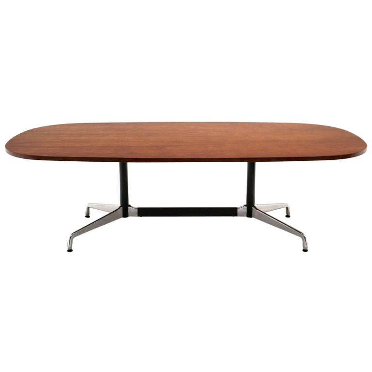 Walnut Conference / Dining Table by Charles and Ray Eames for Herman Miller For Sale