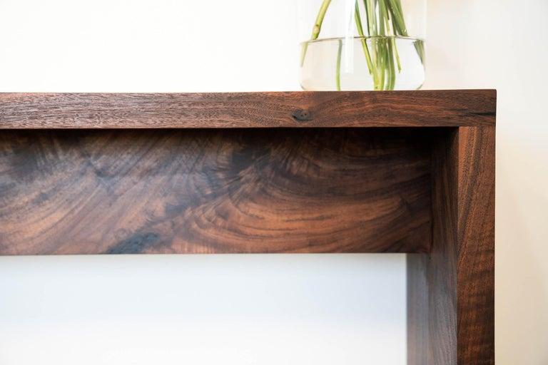 American Walnut Console Table by Alabama Sawyer For Sale