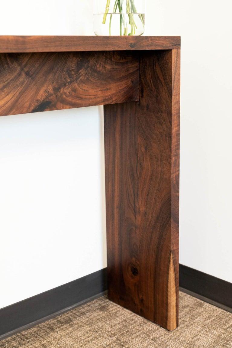 Woodwork Walnut Console Table by Alabama Sawyer For Sale