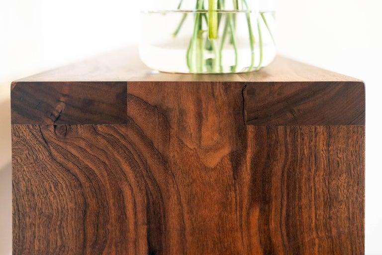 Walnut Console Table by Alabama Sawyer For Sale 1