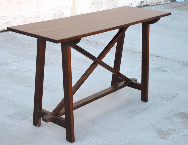 Walnut Console Table For Sale 3