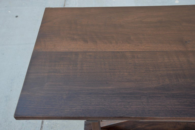 American Craftsman Walnut Console Table For Sale
