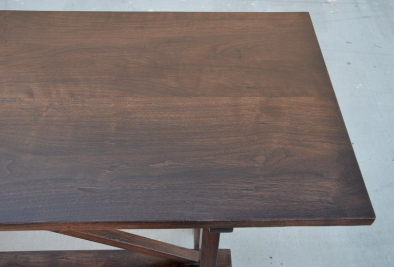 American Walnut Console Table For Sale