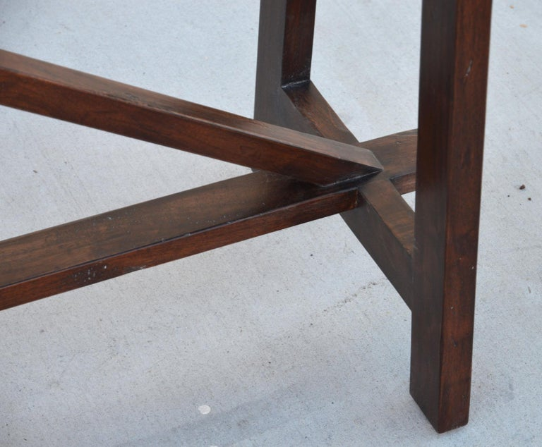 Walnut Console Table In New Condition For Sale In Los Angeles, CA