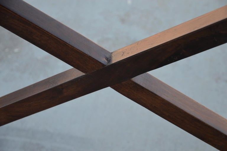 Contemporary Walnut Console Table For Sale