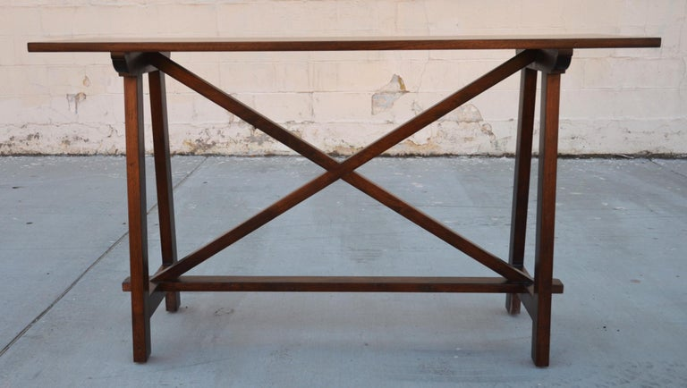 Walnut Console Table For Sale 2