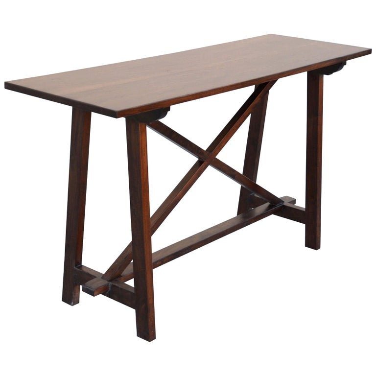 Walnut Console Table For Sale