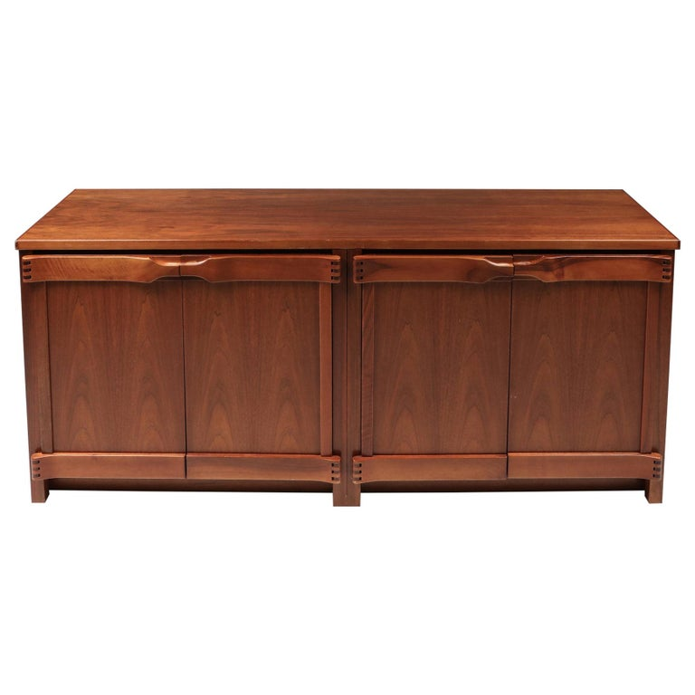 Walnut Credenza by Franz Xaver Sproll, 1960s For Sale