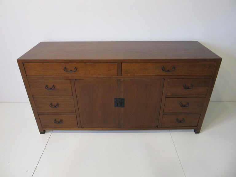Walnut Credenza / Cabinet by American of Martinsville For Sale 6