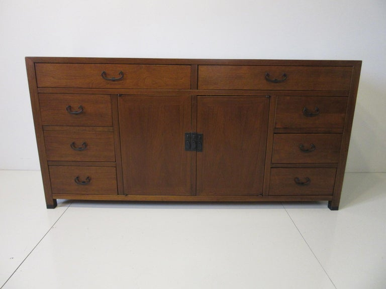 Walnut Credenza / Cabinet by American of Martinsville For Sale 7