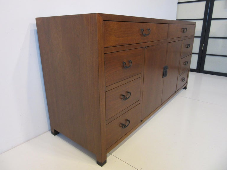 20th Century Walnut Credenza / Cabinet by American of Martinsville For Sale