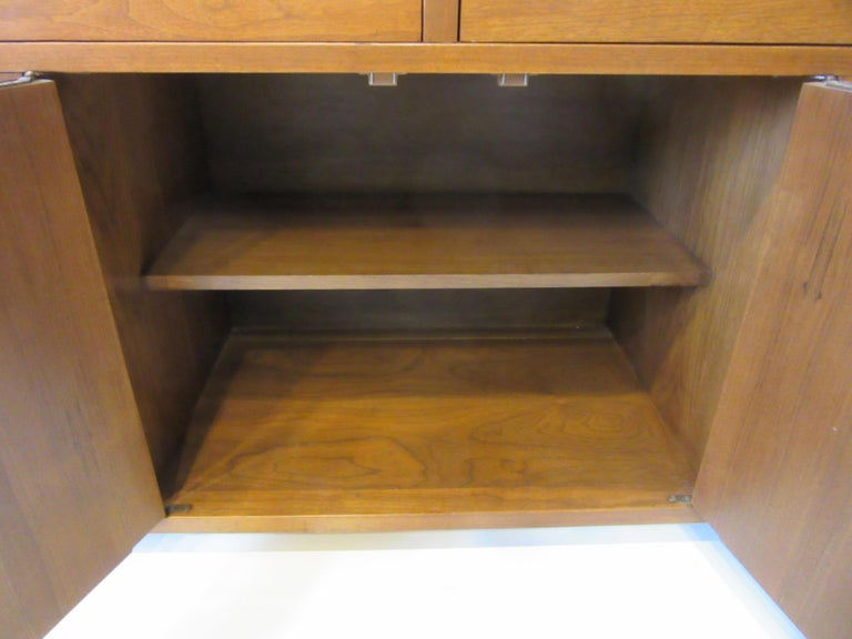 Walnut Credenza / Cabinet by American of Martinsville For Sale 3