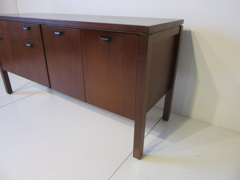Walnut Credenza or Server in the Style of Jens Risom 2
