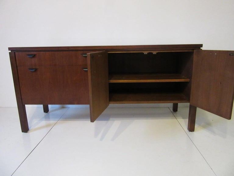 Walnut Credenza or Server in the Style of Jens Risom 4