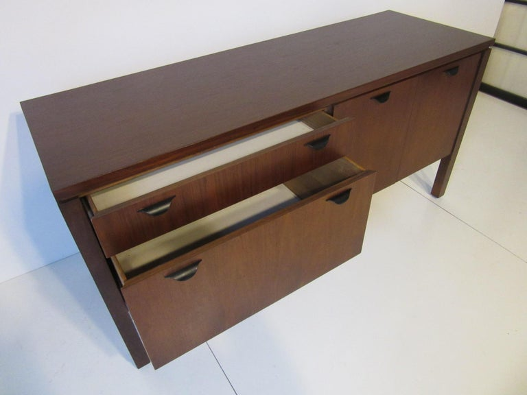 Walnut Credenza or Server in the Style of Jens Risom 5